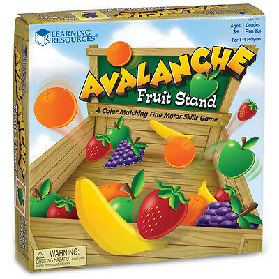 Learning Resources Avalanche Fruit Stand Game NEW
