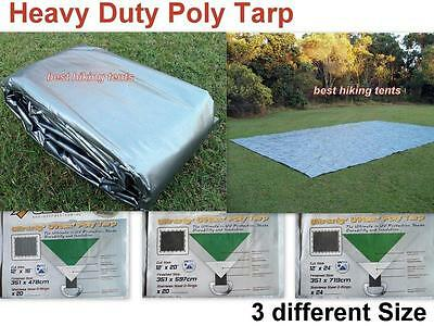 OZtrail UltraRig Silver Heavy Duty Poly Tarp Tarpaulin 3 Size Outdoor Camping