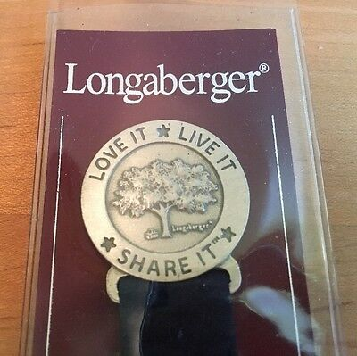 Longaberger Bee 2003 / Pewter Love It Live It Share It Ribbon Bookmark