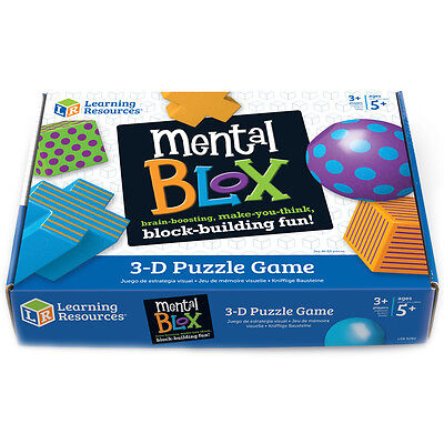 Learning Resources Mental Blox 3-D Puzzle Game NEW