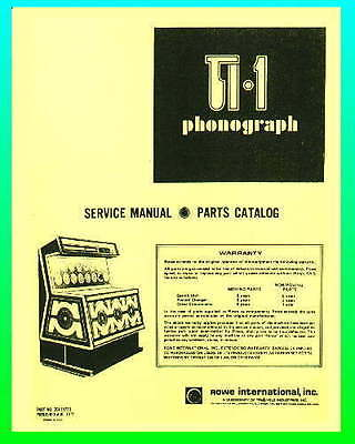 Rowe TI 1 Jukebox Service & Parts Manual