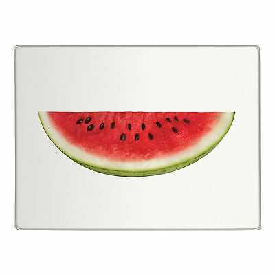 Half Watermelon Clear Glass Chopping Board Kitchen Food Worktop Saver Protector