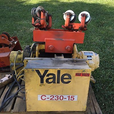 **REDUCED**Yale BEW1-32L G22/7S2 1 TON Cable Hoist With Saturn Tractor Drive
