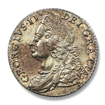 Great Britain George II Shilling 1758  AU Toned