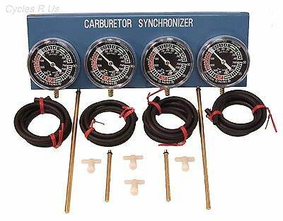 NEW Motorcycle 2 4 Cylinder Carb Carburetor Tuner Sticks Vacuum Gauge Kawasaki
