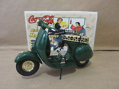 1996 Coca Cola Coke Wherever You Go Miniature Motor Scooter Die Cast 1:6 Scale