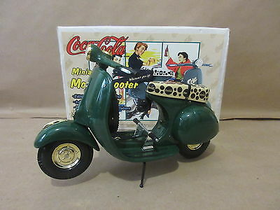 1996 Cocoa Cola Coke Wherever You Go Miniature Motor Scooter Die Cast 1:6 Scale