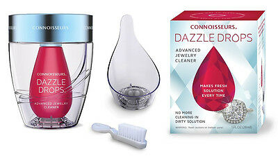 Connoisseurs Dazzle Drops Advanced Jewelry Cleaning Kit For Gold Pearls Diamonds