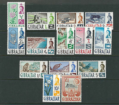 GIBRALTAR 1960 QEII definitives complete (Scott 147-160) VF MNH