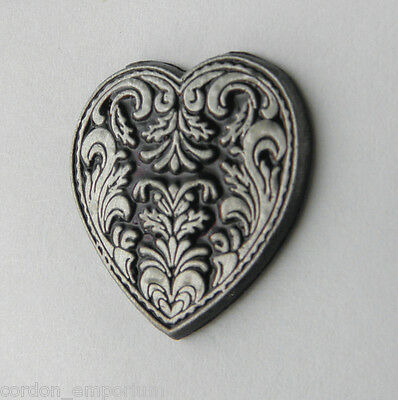 I Love Heart Gothic Style Novelty Lapel Pin Badge 1 Inch