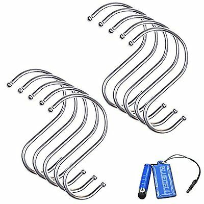BCP 10PCS 3 1/4Inch Multiuse S Shape Metal Hook Hanger for Kitchenware/ Clothes