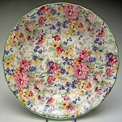Vintage W.R. Midwinter Burslem Chintz Brama Rim Soup or Pasta Bowl 7 ½ inch wide