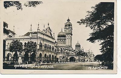 Malaya Kuala Lumpur Government Offices 1926 Real Photo Postcard