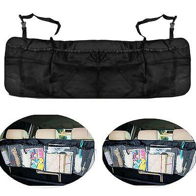 Car Back Seat Holder Pouch Hanging Mesh Bag Storage Organizer for Phone Drinks