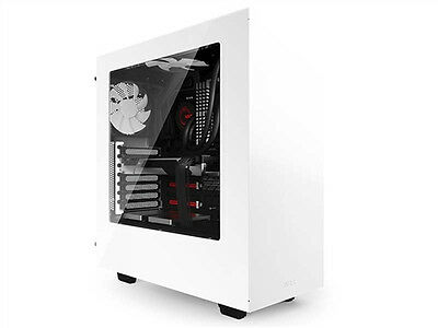 Nzxt Gaming Case Source 340 White Mid Tower Ca-S340W-W1