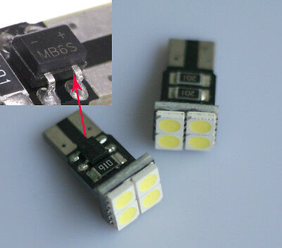 2x LED Lampe Canbus w5w T10 Innenraumbeleuchtung 4 5050 smd Opel Audi VW 12V DC