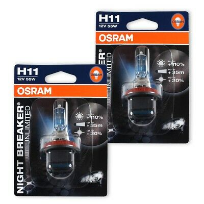 osram 2 er set halogen lampe h8 nightbreaker unlimited. Black Bedroom Furniture Sets. Home Design Ideas