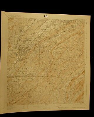 Bessemer Iron District Alabama 1942 vintage USGS Topo color chart map
