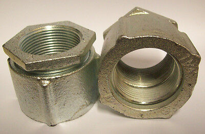 """Lot of 2  1 1/4 """" Steel 3 piece Pipe Coupling"""