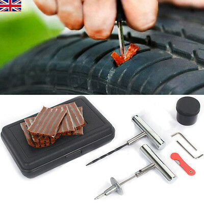 Car Van Bike Motorcycle Auto Tubeless Tire Tyre Puncture Plug Repair Kit Tools