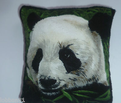 Pin Cushion Cute Panda Bear 100% Cotton & Matching Velvet in organza gift bag