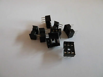 DIL DIP IC Sockets Standard Low Profile / Turned Pin 4 6 8 14 16 18 20 24 28 40
