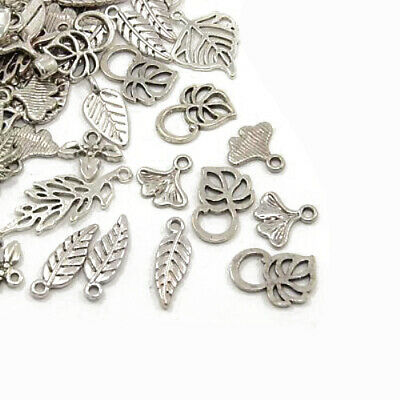 Leaf Charm/Pendant Tibetan Antique Silver 5-40mm  30 Grams Accessory Jewellery