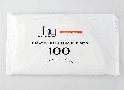 Head-Gear Polythene Head Caps - Pack of 100 Caps Offers Great Value
