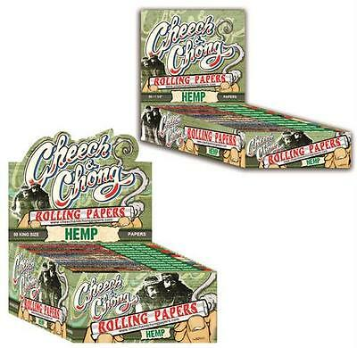 """Full Box of 25 packs Authentic Hemp Cheech & Chong rolling papers 1 1/4"""""""
