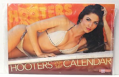 Amberly Hall 2016 HOOTERS Girl CALENDAR + FOOD COUPONS ENCLOSED - New/Sealed