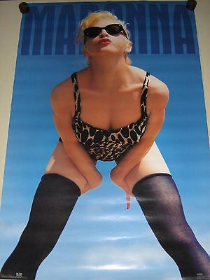 "Madonna - Orig. vintage Poster - ""Blue"" #8174 / Exc.New cond. / ""1992"" / 23x35"""