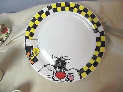 "Tweety Bird and Sylvester Dinner Plate 9.75"" LooneyTunes Gibson"