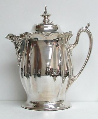 FABULOUS OLD 1860's SILVER PLATE MASSIVE LEMONADE PITCHER POUR