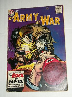DC OUR ARMY AT WAR #81 1959 1st Sgt ROCK of EASY COMPANY App/Last Prototype ROCK