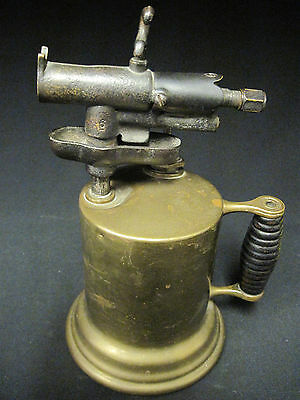 Unique Antique Brass Soldering Blow Torch Steampunk Plumbing Welding Tool Rare