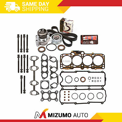 Fit Head Gasket Set Timing Belt Kit Water Pump 98-06 VW Beetle Golf Jetta 2.0