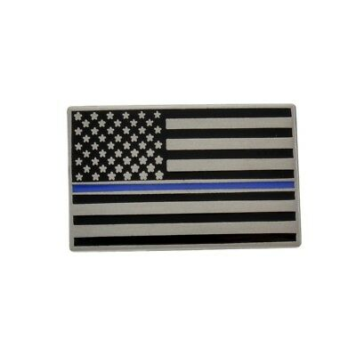 Thin Blue Line Lapel Pin Subdued American US Flag Lives Matter Police Mourning