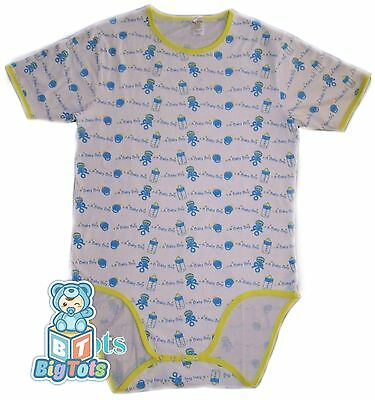 Adult Baby A Baby Boy bodysuit *Big Tots Exclusive*