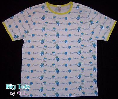 Adult Baby   SHIRT A Baby Boy cotton snap shoulder  *Big Tots ExclusiveL*