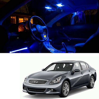 9x Blue Led Lights Interior Package For Infiniti 07 2008 G35 09 2013