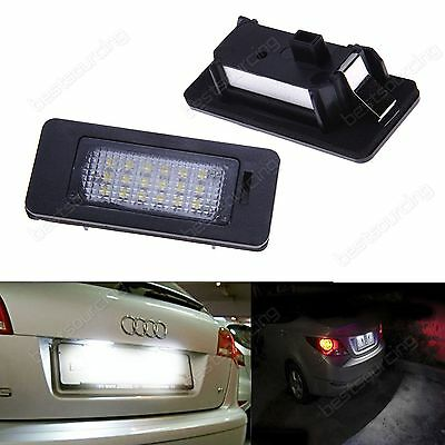 Audi A1 A3 A4 S4 A5 Q5 A6 A7 LED Licence Number Plate Light Lamp Bulbs No Error
