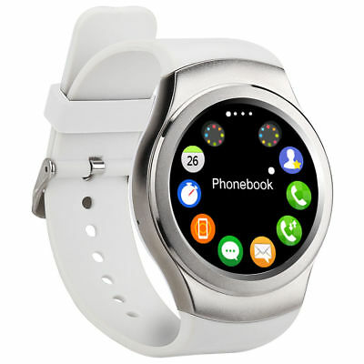 SMART WATCH for IPHONE SAMSUNG ANDROID IOS SIM HEART RATE MONITOR WHITE