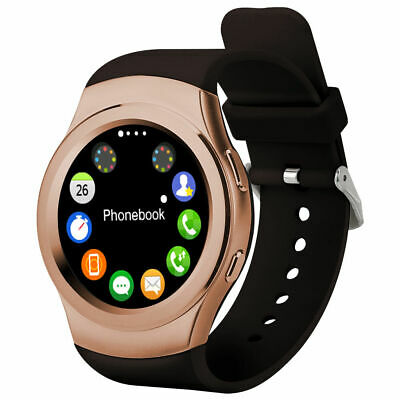 SMART WATCH for IPHONE SAMSUNG ANDROID IOS SIM HEART RATE MONITOR GOLD