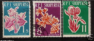 Albania 1961 Flowers   Set 3  Fu