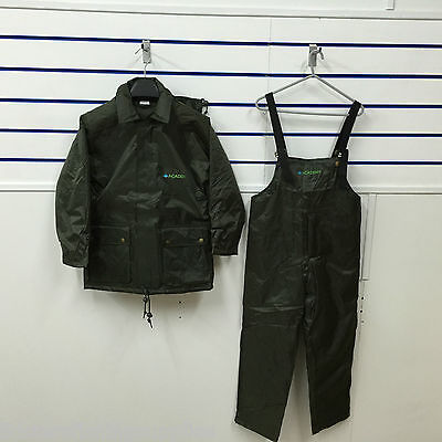 Junior kids Carp Coarse Fishing All Weather Suit Bib Brace + Jacket Waterproof