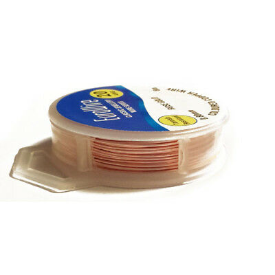 1 x Rose Gold Copper Craft Wire 6 Metre x 0.8mm Hanging Reel X1145