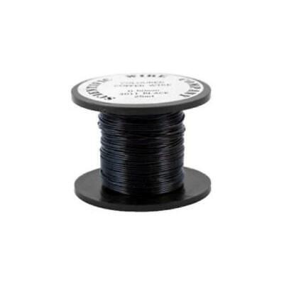 1 x Black Plated Copper 0.9mm x 5m Round Craft Wire Coil W3011