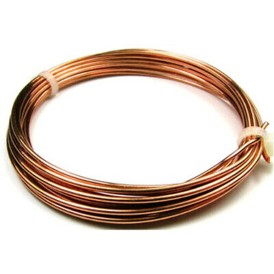 1 x Unplated Anti Tarnish Copper 1.5mm x 1.75m Round Craft Wire Coil W1150