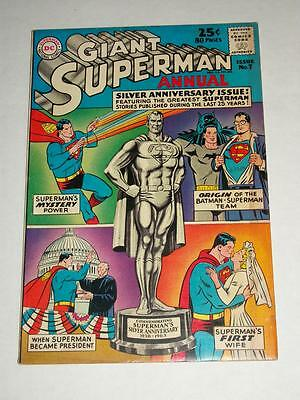 DC Giant SUPERMAN ANNUAL #7 Silver Anniversary 80-Page VF/VF+