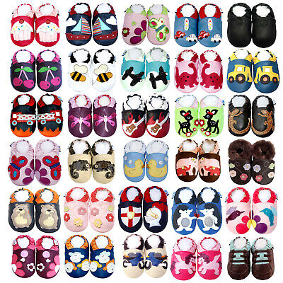 Soft Sole Baby Shoes Boy Girl Infant Toddler Moccasin Crib Booties 0-3Y FreeGift